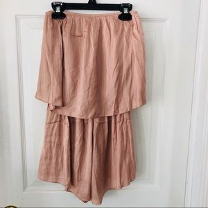 NWT HONEY PUNCH dusty rose strapless romper size S